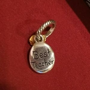 "Brighton Jewelry - ""Best Teacher"" Charm"